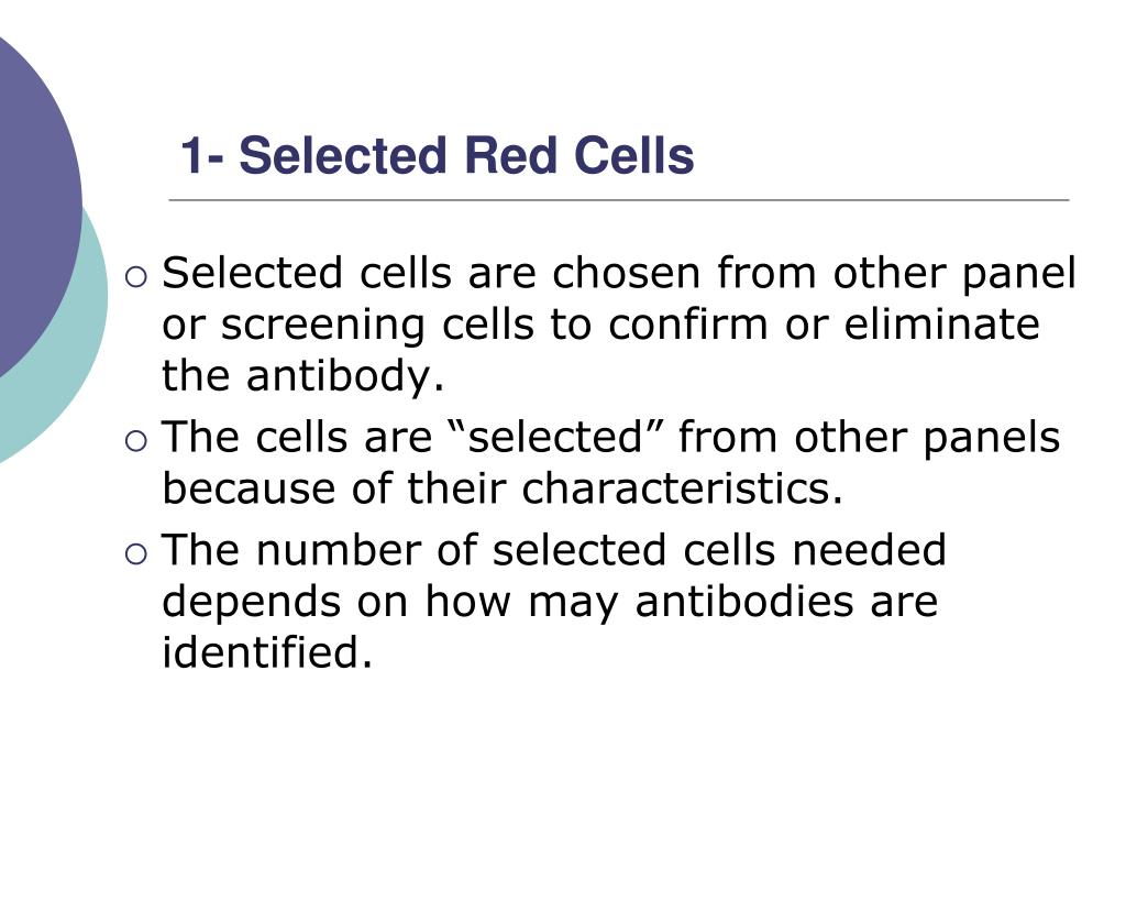 1- Selected Red Cells