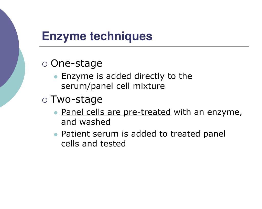 Enzyme techniques