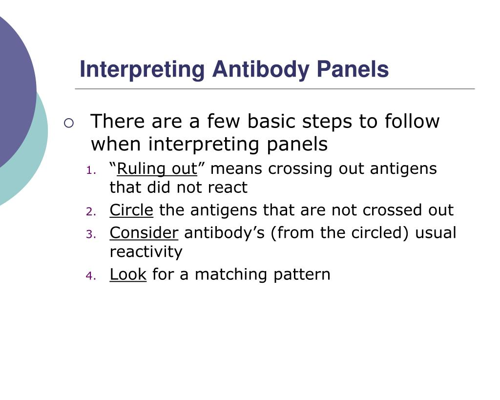Interpreting Antibody Panels