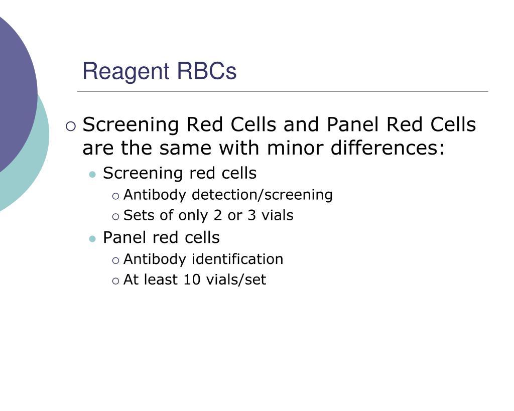 Reagent RBCs