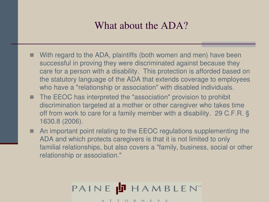 What about the ADA?