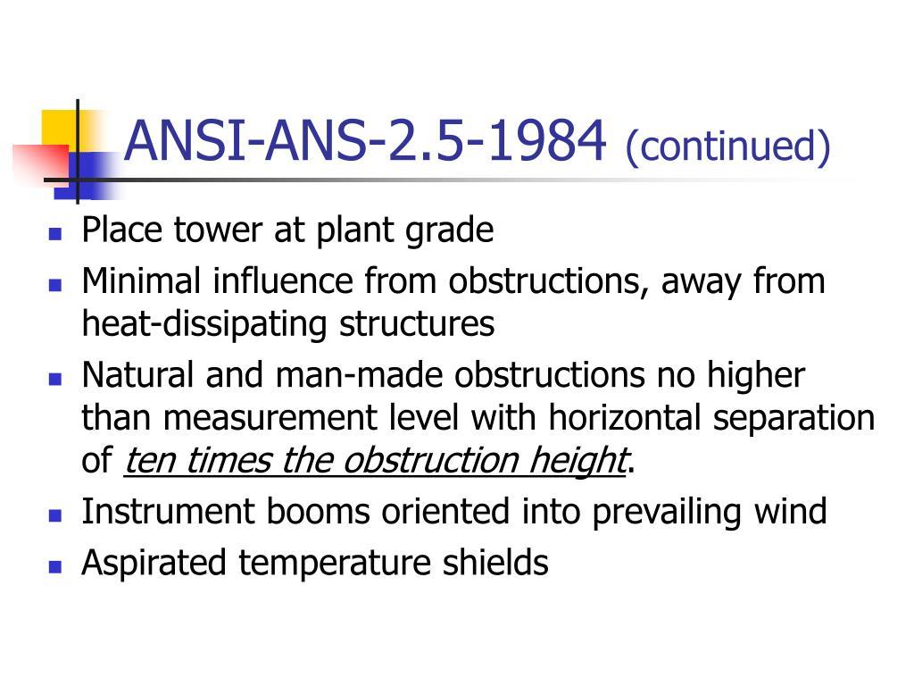 ANSI-ANS-2.5-1984