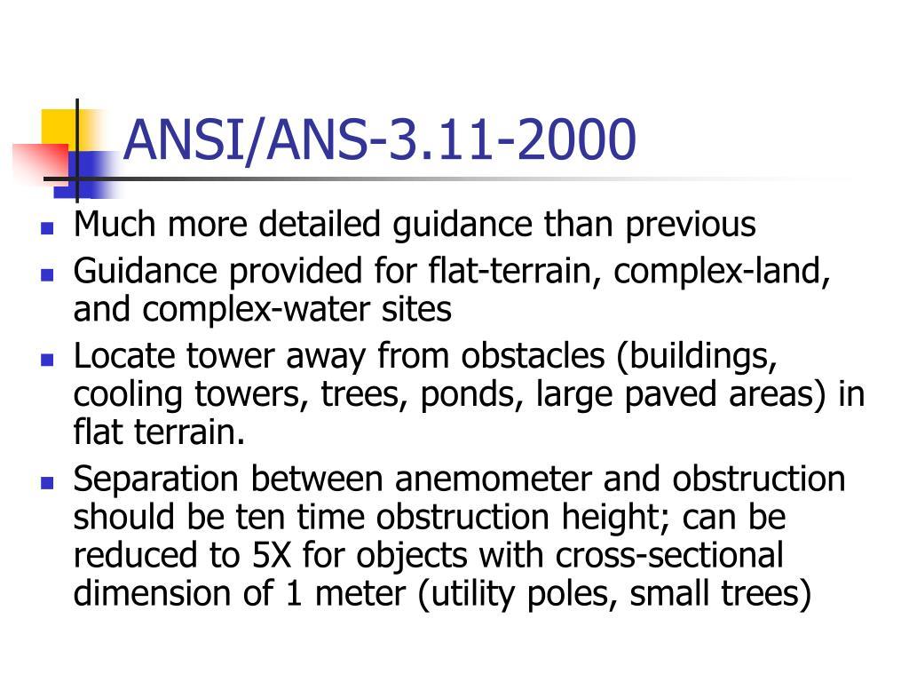 ANSI/ANS-3.11-2000