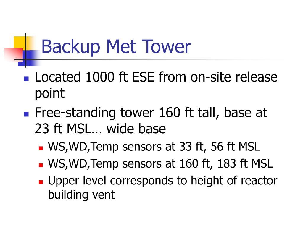 Backup Met Tower