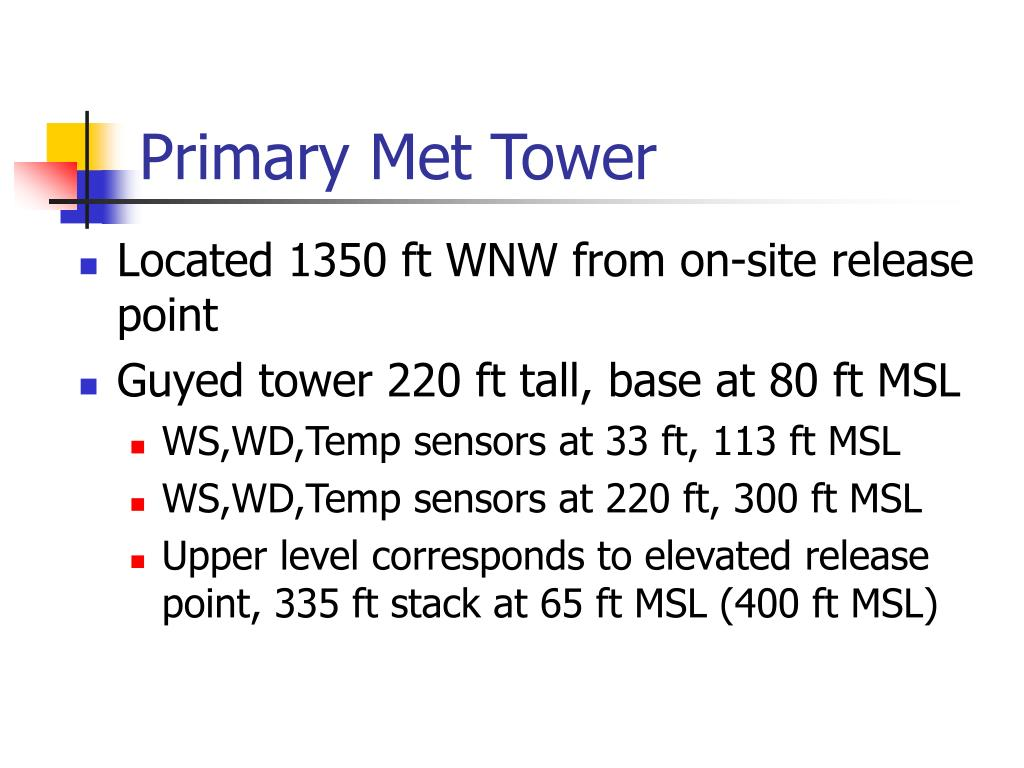 Primary Met Tower