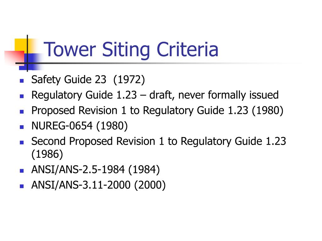 Tower Siting Criteria