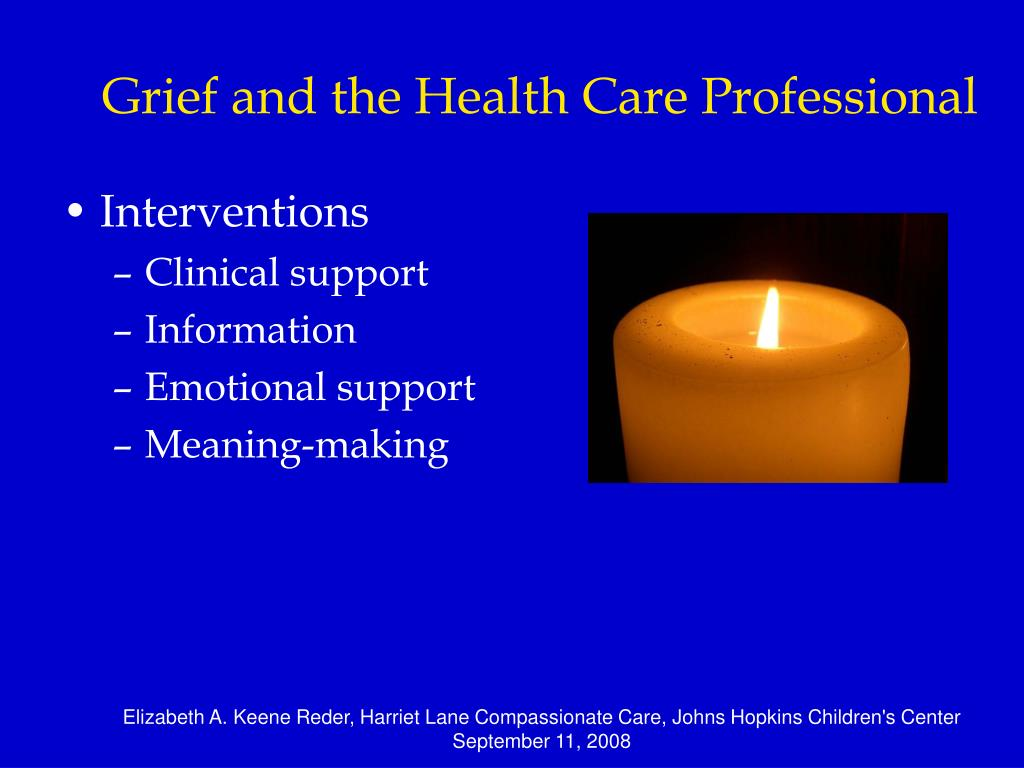 Grief and the Health Care Professional