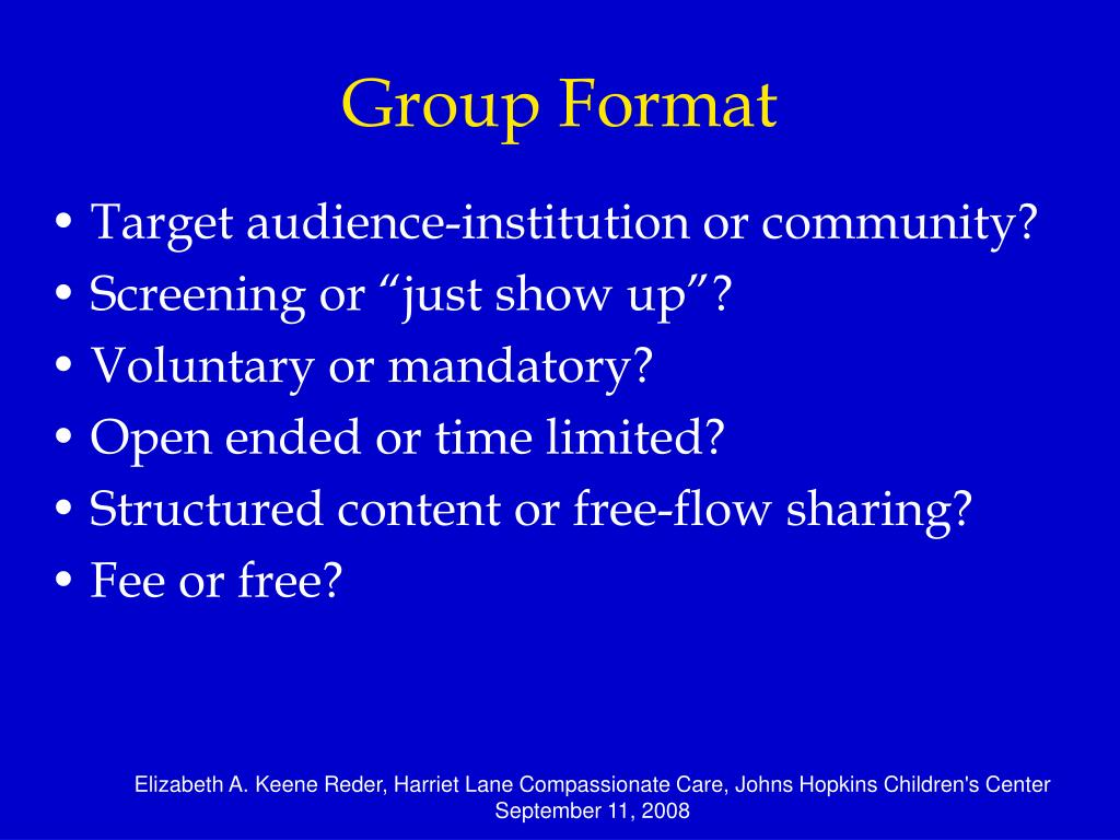 Group Format
