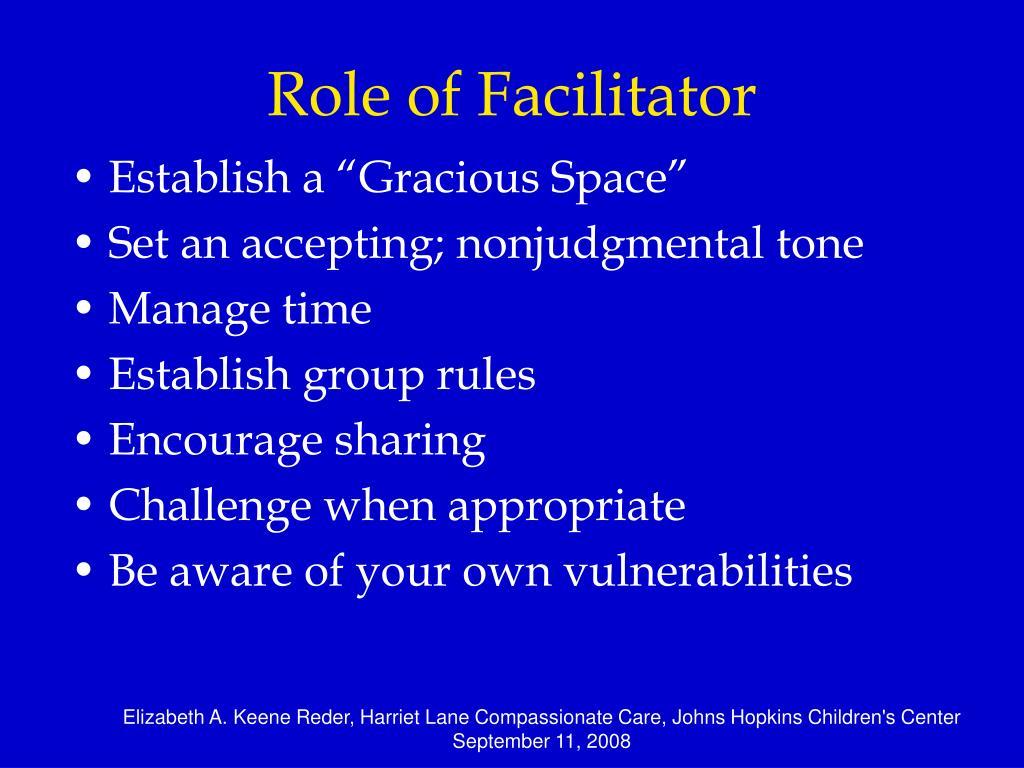 Role of Facilitator