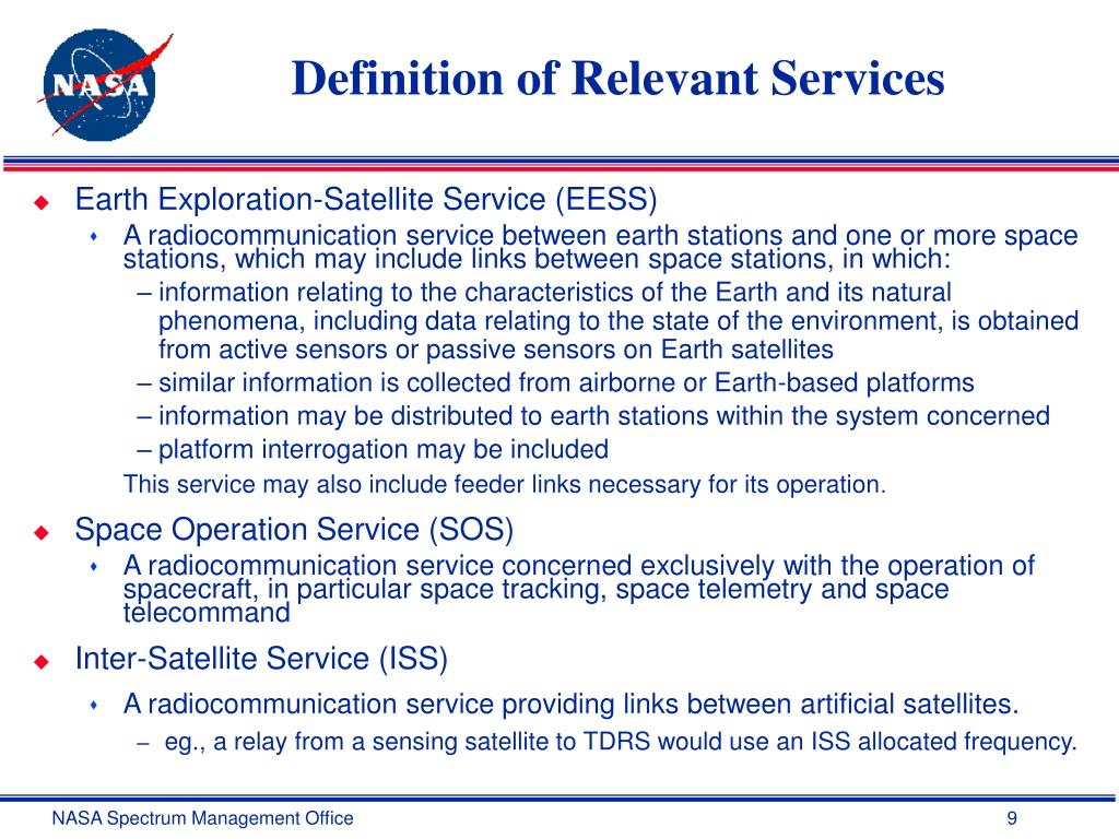 Definition of Relevant Services