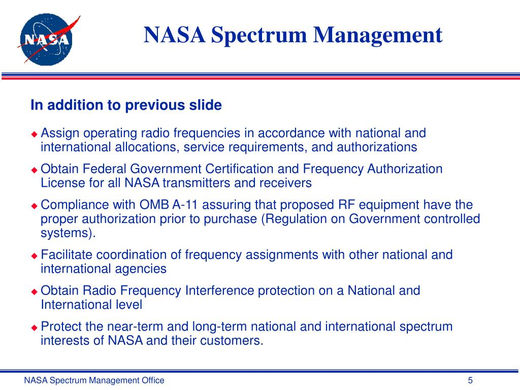 NASA Spectrum Management