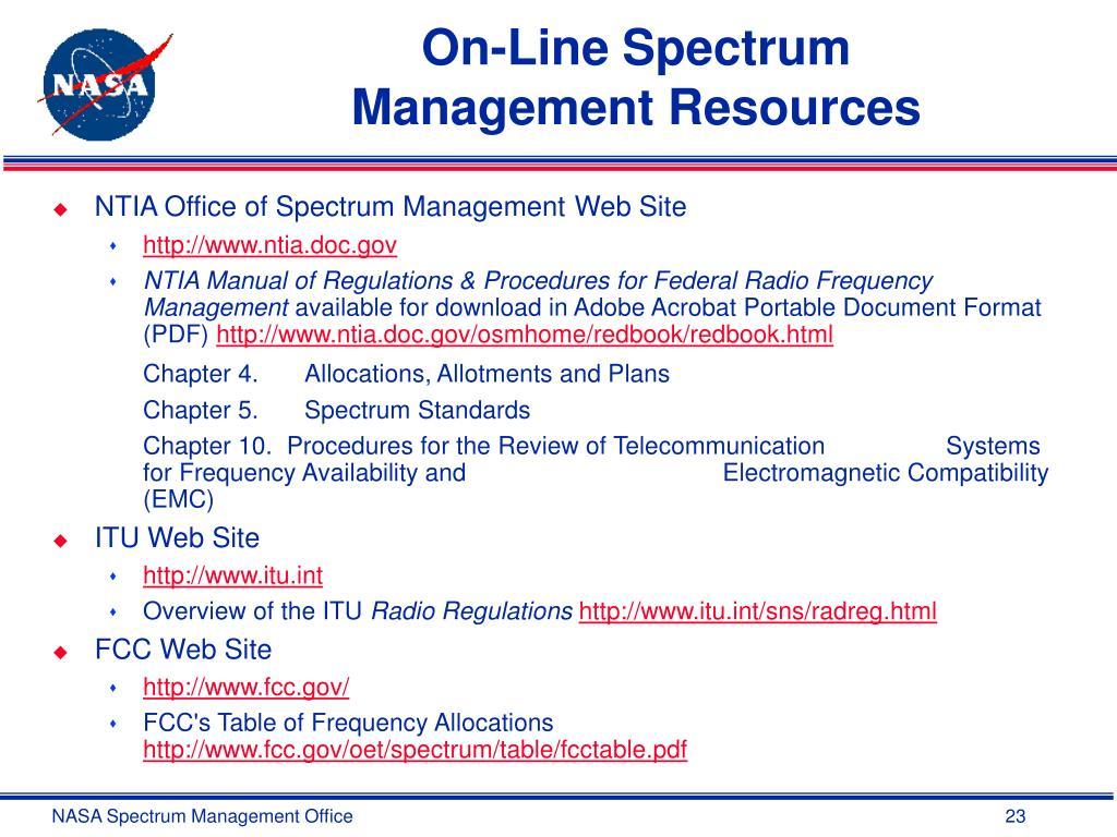 On-Line Spectrum