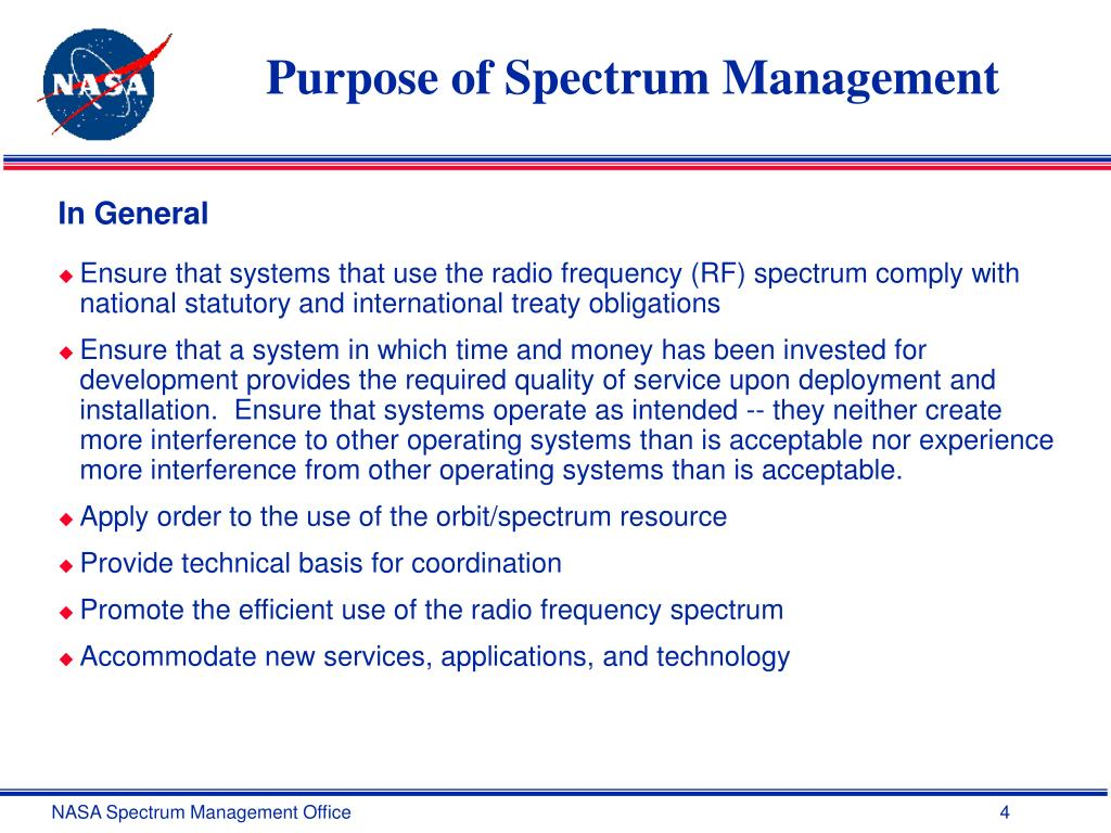 Purpose of Spectrum Management