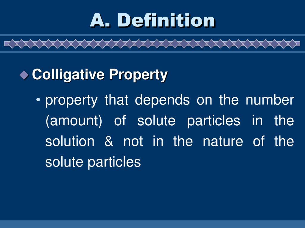 A. Definition