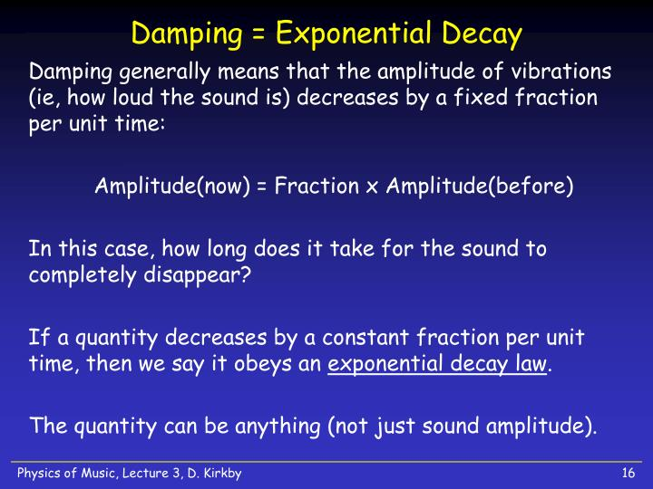 Damping = Exponential Decay