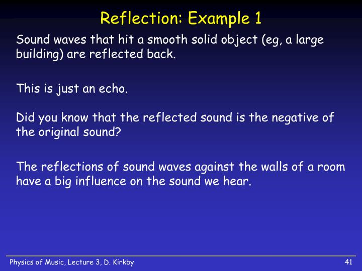 Reflection: Example 1