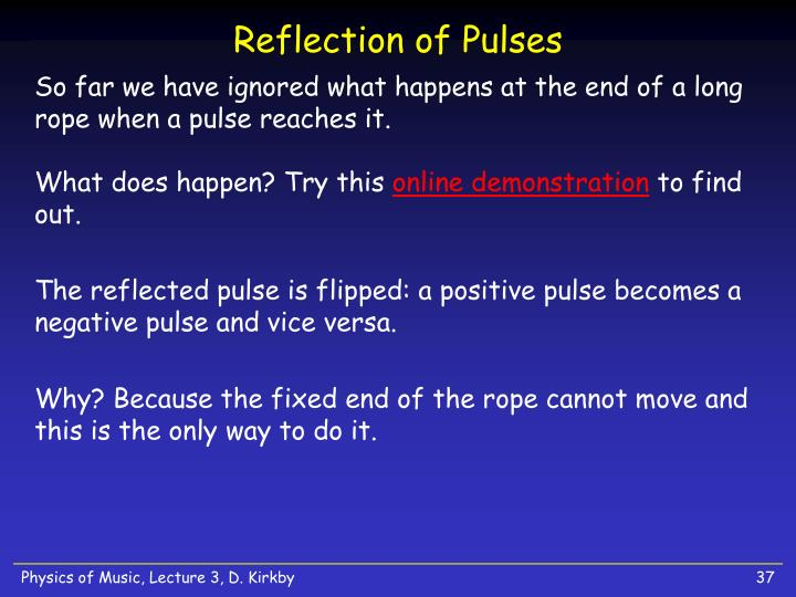 Reflection of Pulses