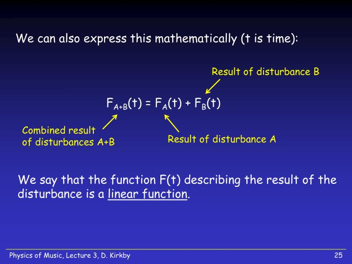 We can also express this mathematically (t is time):