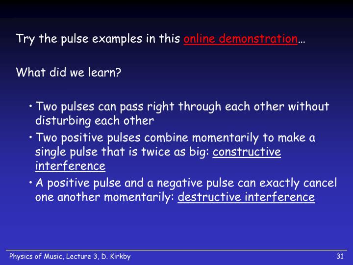 Try the pulse examples in this