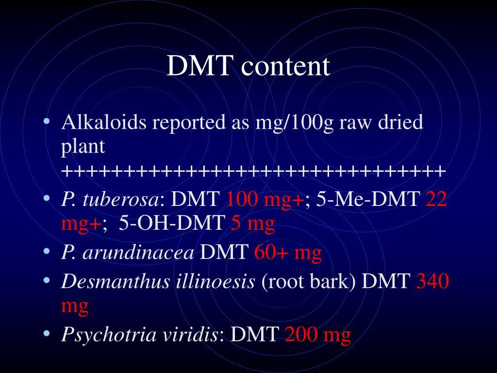 DMT content