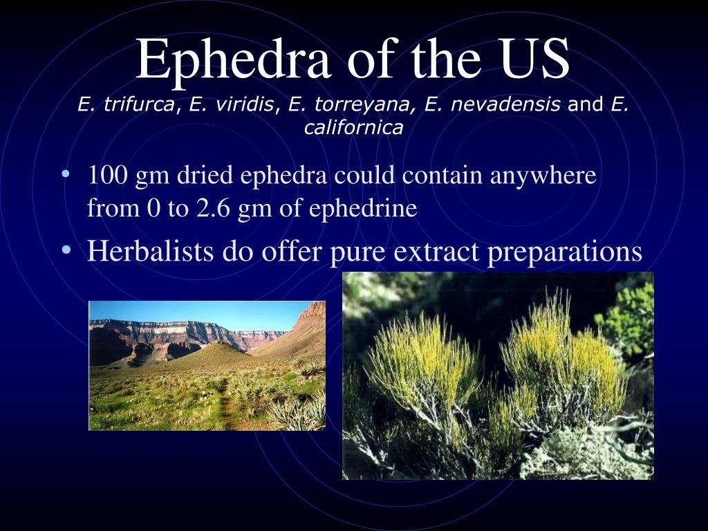 Ephedra of the US