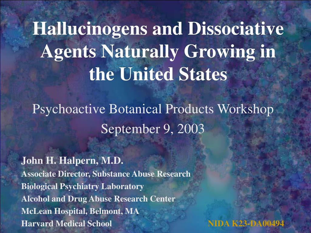 Hallucinogens and Dissociative Agents Naturally Growing in the United States
