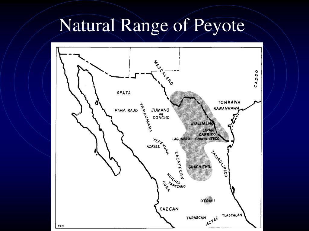 Natural Range of Peyote