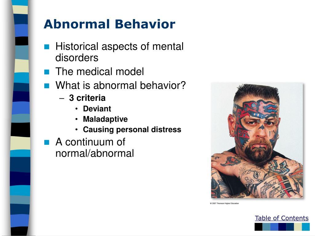 Abnormal Behavior