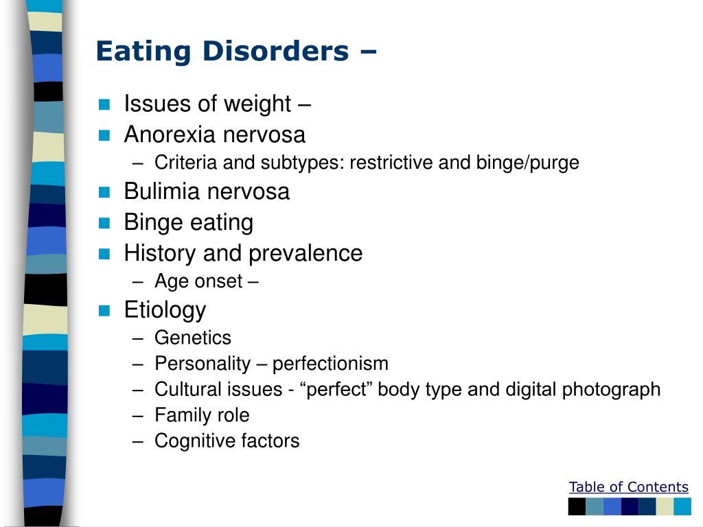 Eating Disorders –