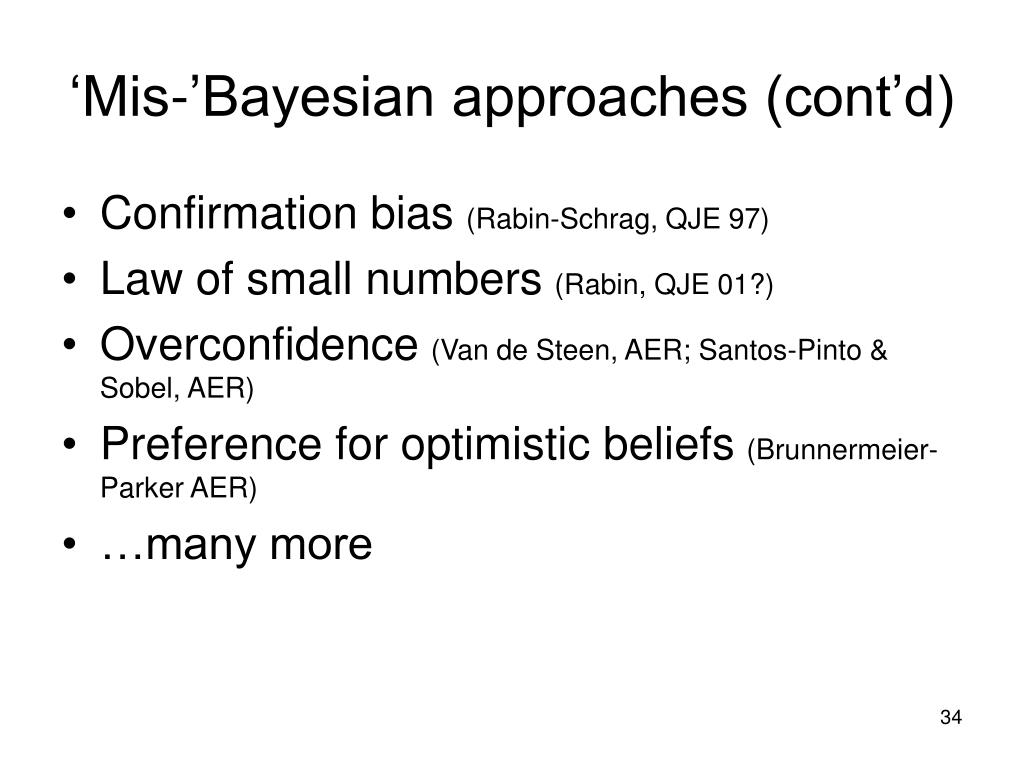 'Mis-'Bayesian approaches (cont'd)