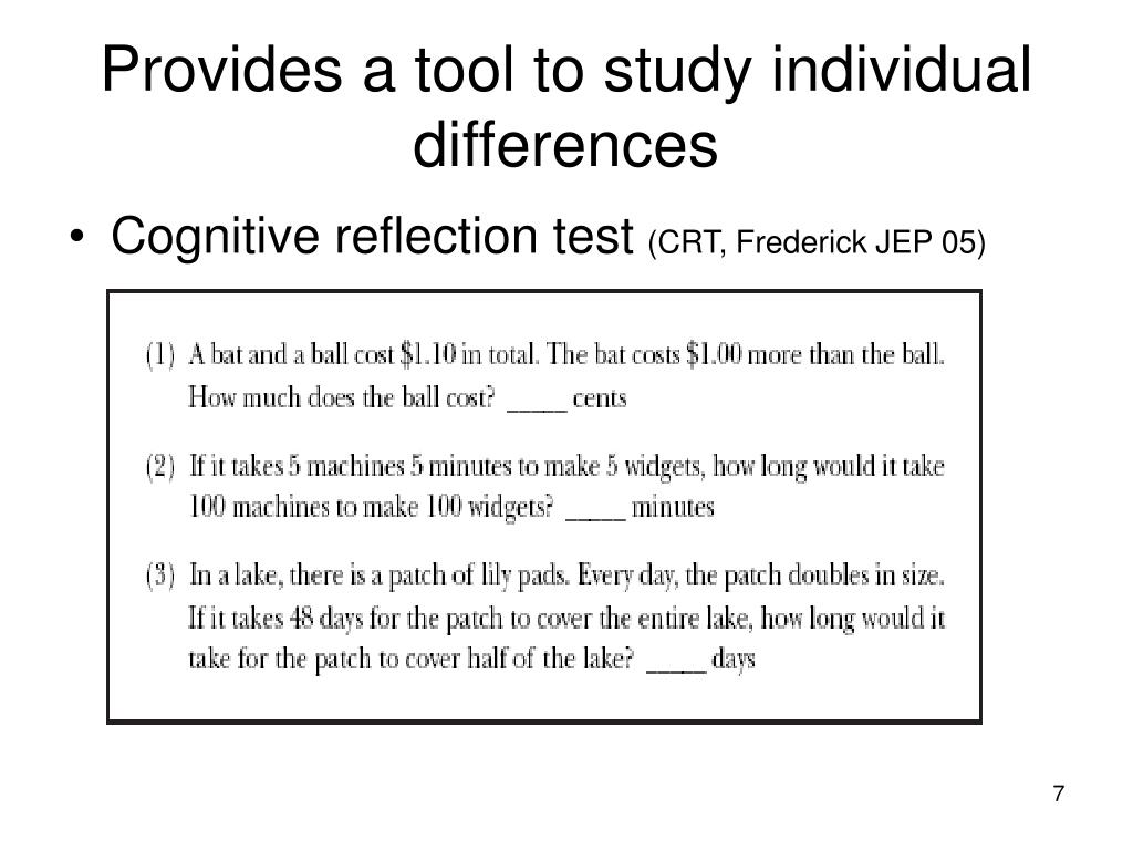 Provides a tool to study individual differences