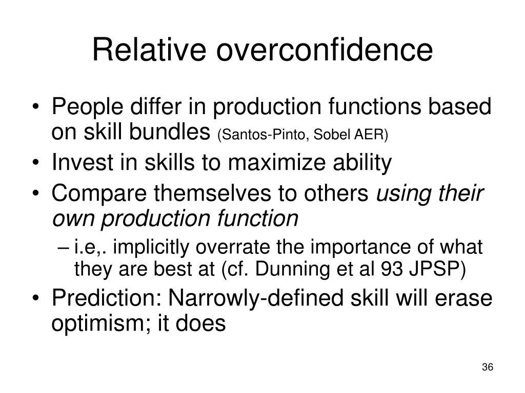 Relative overconfidence