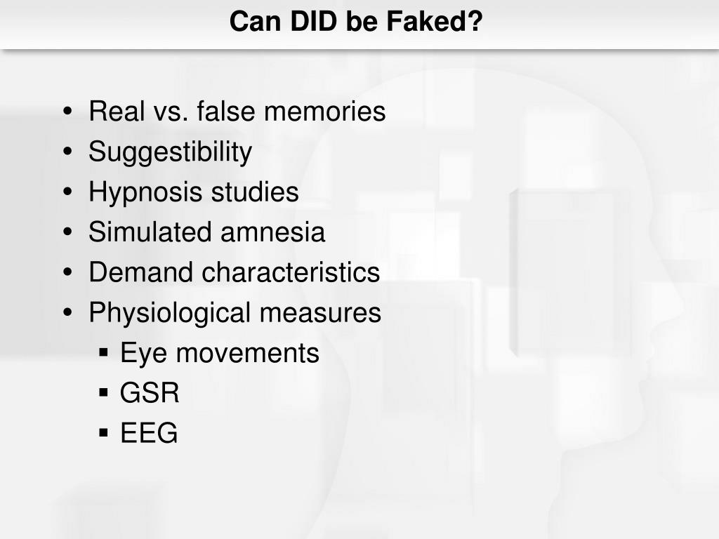 Can DID be Faked?