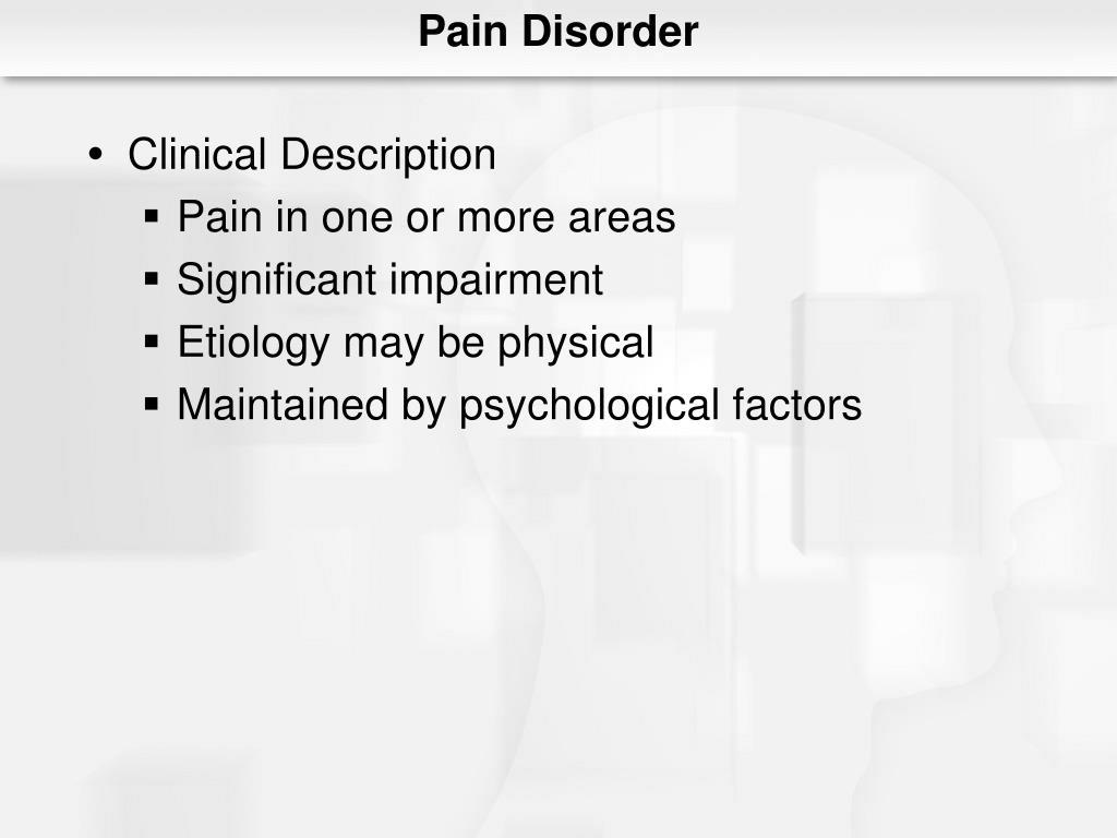 Pain Disorder