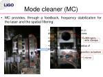 mode cleaner mc