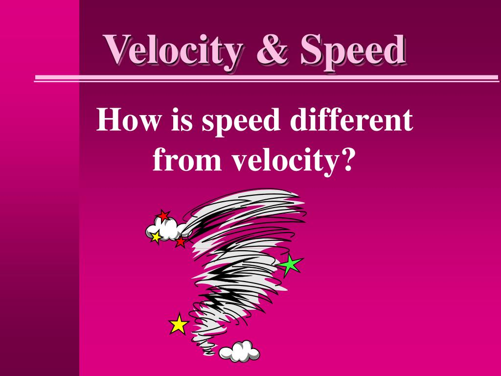Velocity & Speed