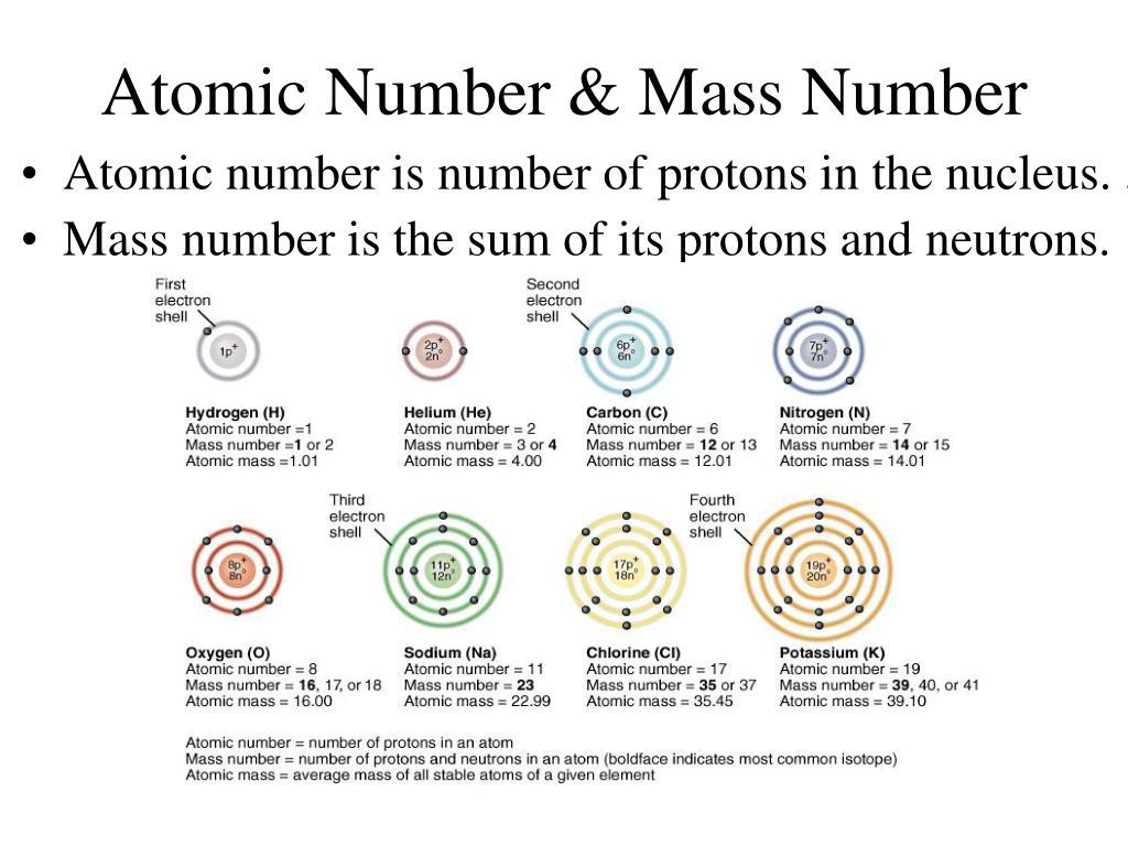 Atomic Number & Mass Number