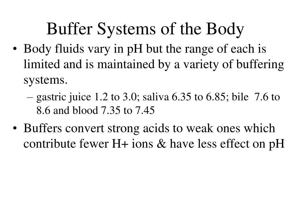Buffer Systems of the Body