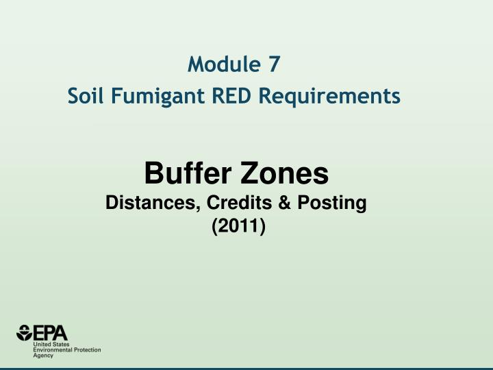 Buffer zones distances credits posting 2011