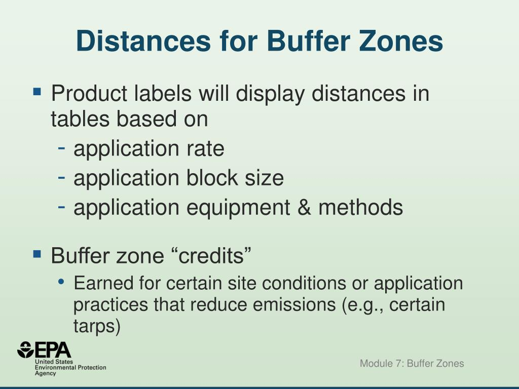 Distances for Buffer Zones