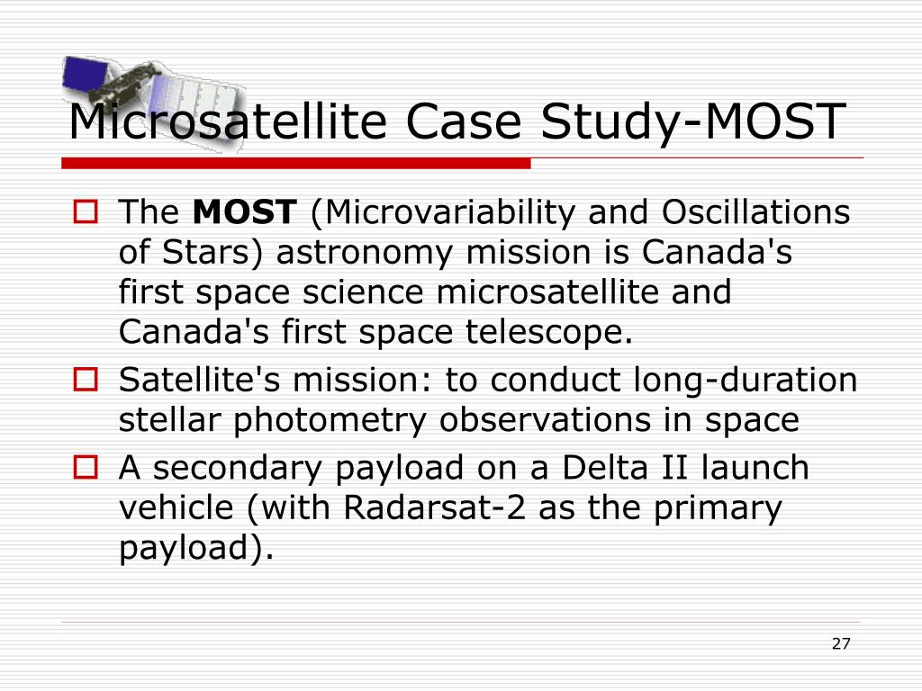 Microsatellite Case Study-MOST