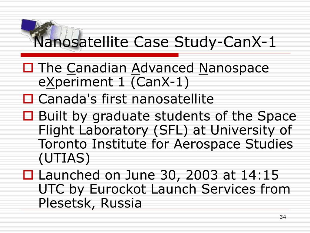 Nanosatellite Case Study-CanX-1