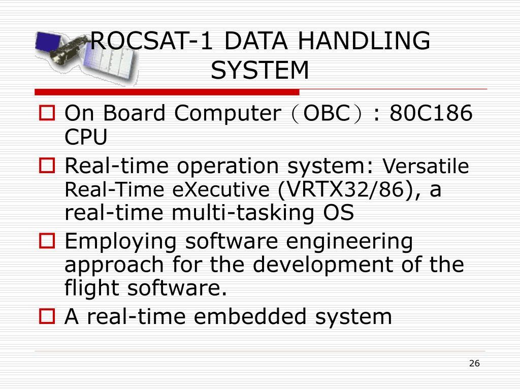 ROCSAT-1 DATA HANDLING SYSTEM