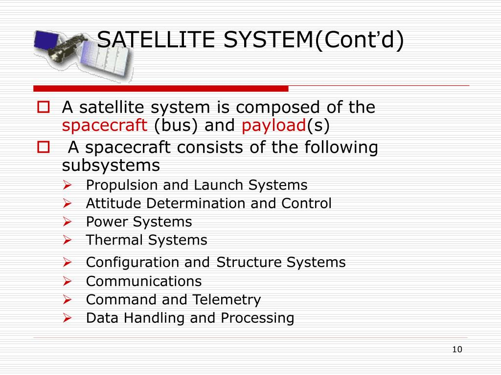 SATELLITE SYSTEM(Cont
