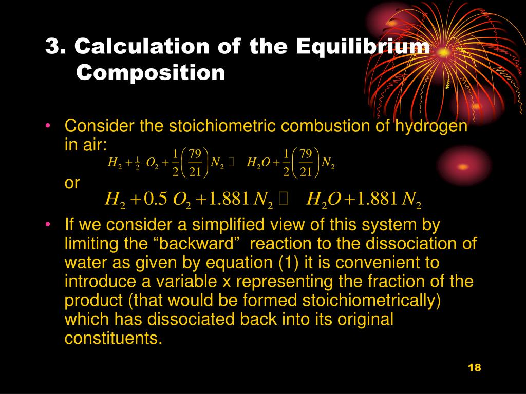 3. Calculation of the Equilibrium Composition