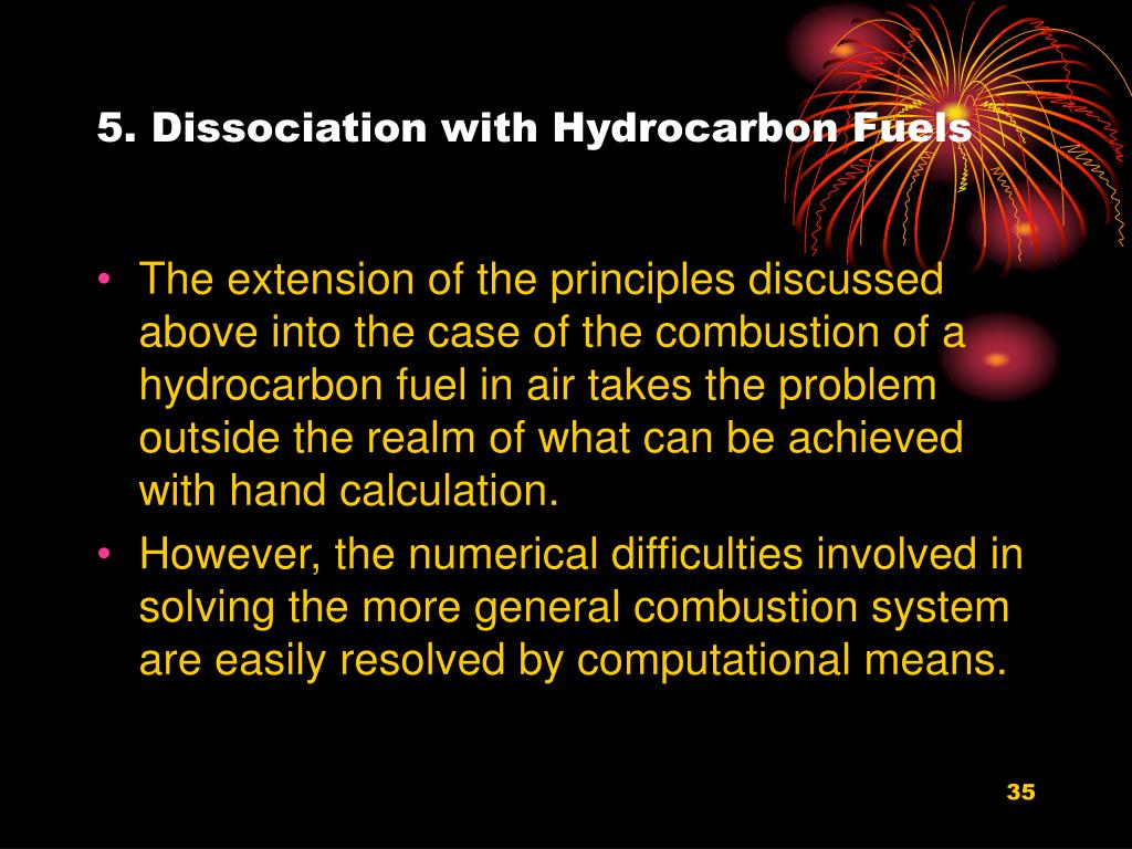 5. Dissociation with Hydrocarbon Fuels