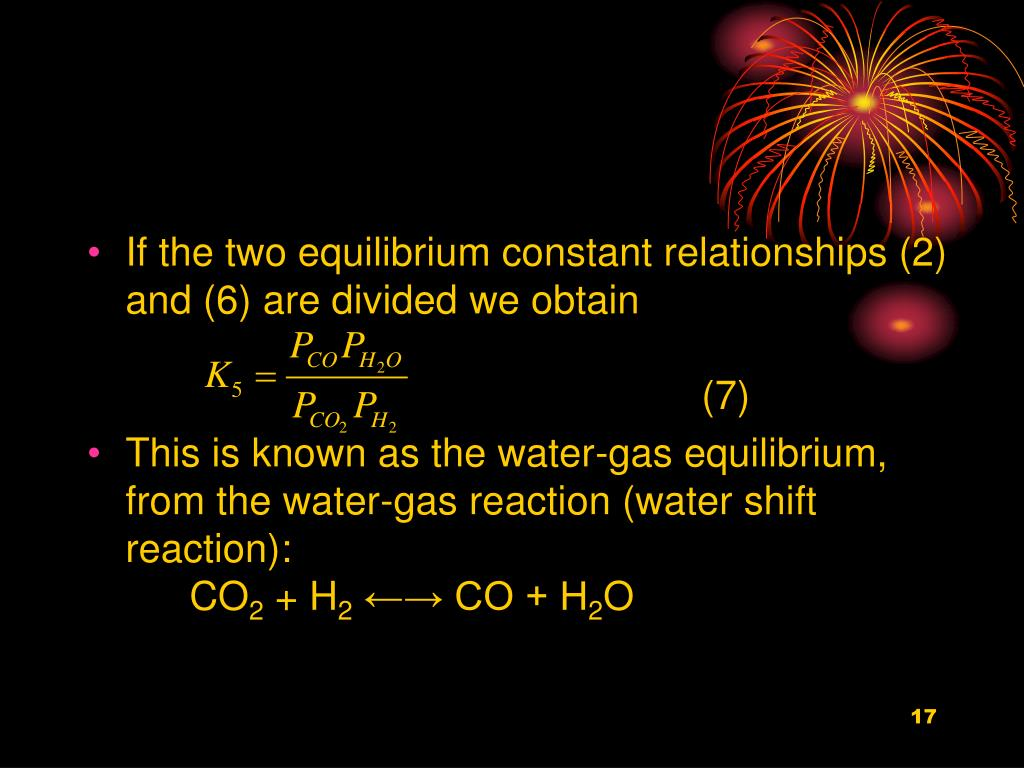 If the two equilibrium constant relationships (2) and (6) are divided we obtain