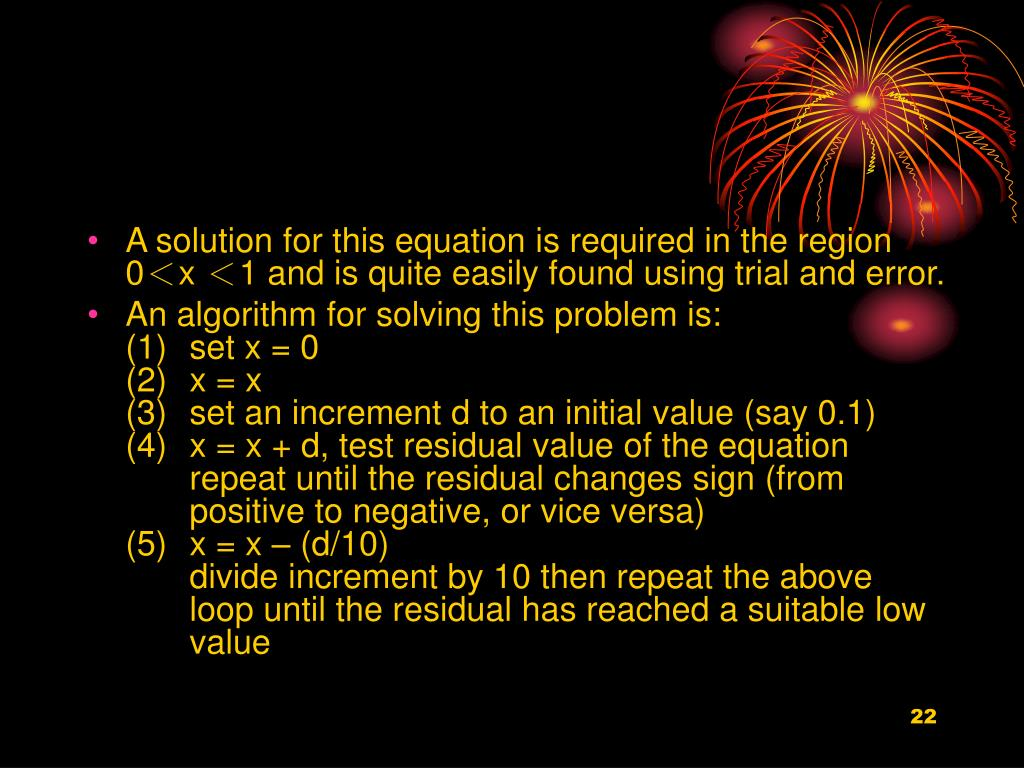 A solution for this equation is required in the region