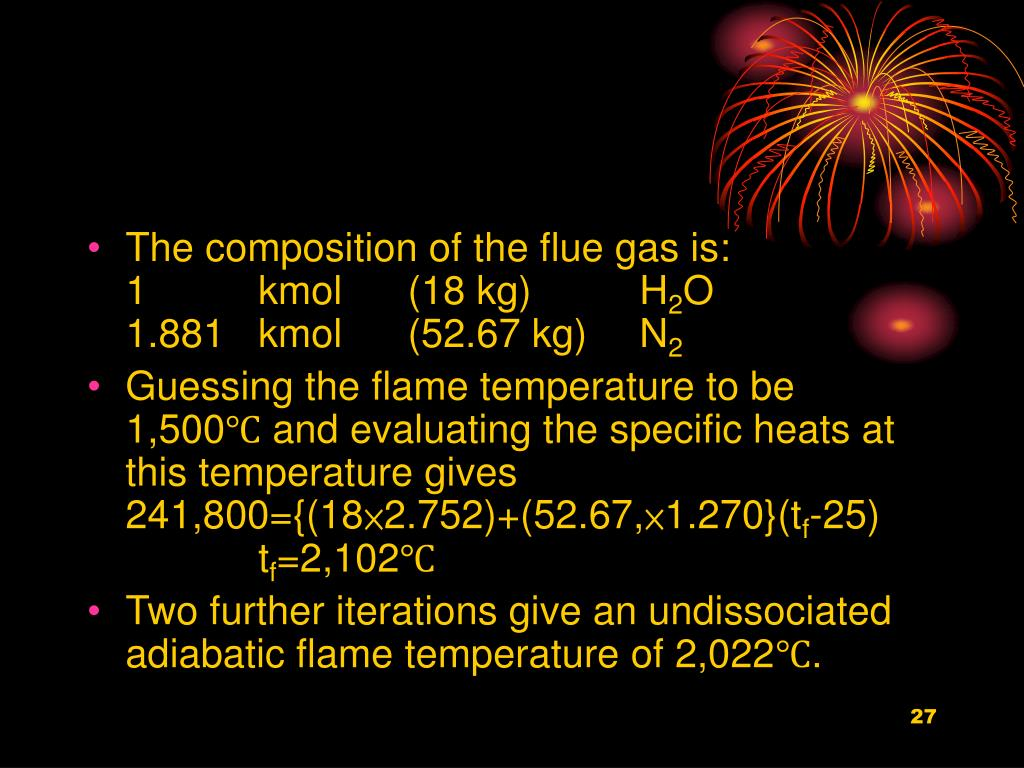 The composition of the flue gas is: