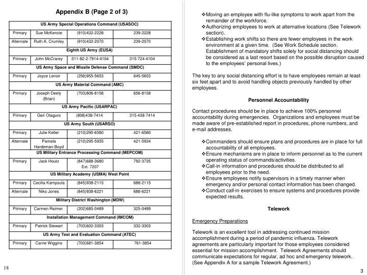 Appendix B (Page 2 of 3)